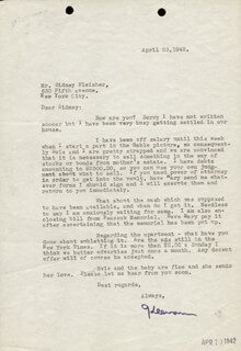 KEENAN WYNN - TYPED LETTER SIGNED 04/23/1942