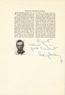 ASSOCIATE JUSTICE ARTHUR J. GOLDBERG - AUTOGRAPH NOTE SIGNED