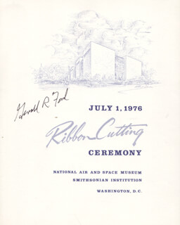 PRESIDENT GERALD R. FORD - PROGRAM SIGNED CIRCA 1976
