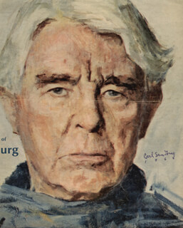 CARL SANDBURG - MAGAZINE COVER SIGNED 1966