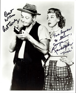 THE HONEYMOONERS TV CAST - AUTOGRAPHED INSCRIBED PHOTOGRAPH CO-SIGNED BY: JOYCE RANDOLPH, ART CARNEY