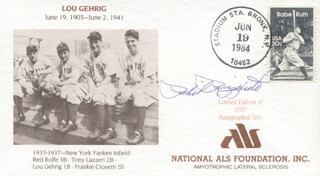PHIL RIZZUTO - SPECIAL COVER SIGNED CIRCA 1984