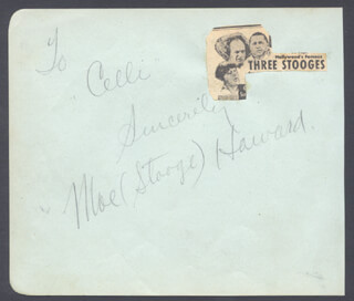 THREE STOOGES (MOE HOWARD) - INSCRIBED SIGNATURE