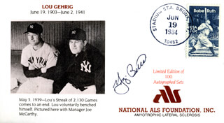 YOGI BERRA - COMMEMORATIVE ENVELOPE SIGNED