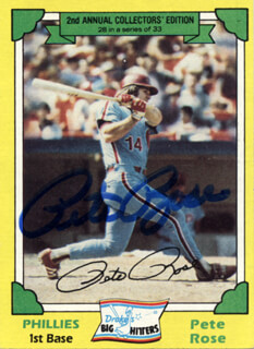 PETE ROSE - TRADING/SPORTS CARD SIGNED