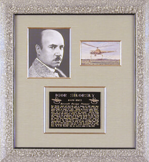 Autographs: IGOR SIKORSKY - ILLUSTRATION SIGNED 01/17/1947