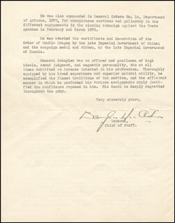 GENERAL DOUGLAS MACARTHUR - TYPED LETTER SIGNED 03/12/1932