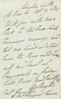 DUKE (ARTHUR WELLESLEY) OF WELLINGTON (GREAT BRITIAN) - AUTOGRAPH LETTER SIGNED 09/19/1838