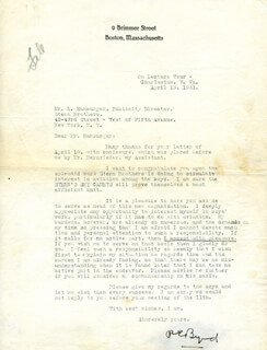 Autographs: REAR ADMIRAL RICHARD E. BYRD - TYPED LETTER SIGNED 04/13/1931