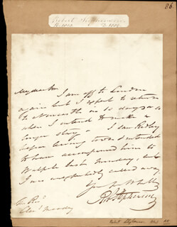 ROBERT STEPHENSON - AUTOGRAPH LETTER SIGNED