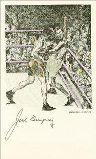 Autographs: JACK DEMPSEY - ILLUSTRATION SIGNED