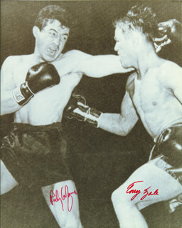 ROCKY GRAZIANO - AUTOGRAPHED SIGNED PHOTOGRAPH CO-SIGNED BY: TONY ZALE