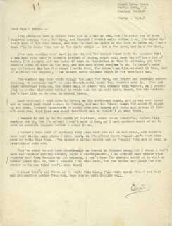 ERNIE PYLE - TYPED LETTER SIGNED 9/6