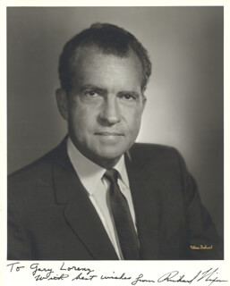 PRESIDENT RICHARD M. NIXON - AUTOGRAPHED INSCRIBED PHOTOGRAPH