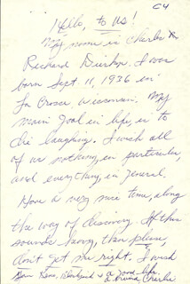CHARLES DIERKOP - AUTOGRAPH LETTER SIGNED