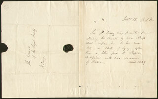 SIR HUMPHRY DAVY - THIRD PERSON AUTOGRAPH LETTER 1/12