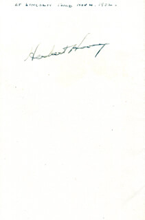 Autographs: PRESIDENT HERBERT HOOVER - PAMPHLET SIGNED CIRCA 1932