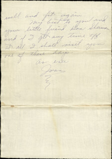 JOAN CRAWFORD - AUTOGRAPH LETTER SIGNED CIRCA 1930