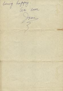 JOAN CRAWFORD - AUTOGRAPH LETTER SIGNED