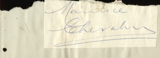 MAURICE CHEVALIER - AUTOGRAPH