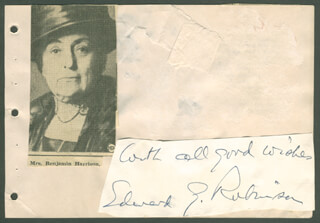 EDWARD G. ROBINSON - AUTOGRAPH SENTIMENT SIGNED