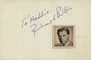 RICHARD BURTON - INSCRIBED SIGNATURE