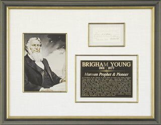 Autographs: BRIGHAM YOUNG - CURRENCY SIGNED 01/20/1849 CO-SIGNED BY: THOMAS BULLOCK, HEBER C. KIMBALL, NEWELL K. WHITNEY