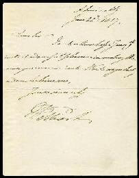Autographs: KING WILLIAM IV - AUTOGRAPH LETTER SIGNED 06/21/1827