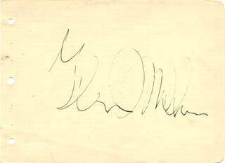 GLENN MILLER BAND (GLENN MILLER) - AUTOGRAPH CO-SIGNED BY: MARTHA MATURE