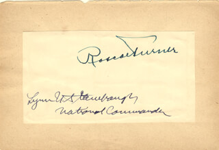 ROSCOE TURNER - AUTOGRAPH CO-SIGNED BY: LYNN UPSHUR STAMBAUGH