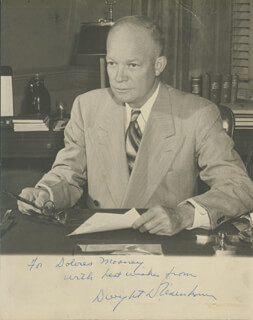 Autographs: PRESIDENT DWIGHT D. EISENHOWER - INSCRIBED PHOTOGRAPH SIGNED