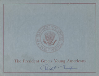 Autographs: PRESIDENT RICHARD M. NIXON - PROGRAM COVER SIGNED