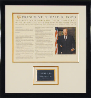 PRESIDENT GERALD R. FORD - DOCUMENT SIGNED