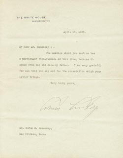 PRESIDENT CALVIN COOLIDGE - TYPED LETTER SIGNED 04/12/1926