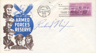 PRESIDENT RICHARD M. NIXON - COMMEMORATIVE ENVELOPE SIGNED