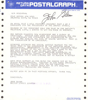 JOHN GLENN - TELEGRAM SIGNED 04/19/1983  - HFSID 47751