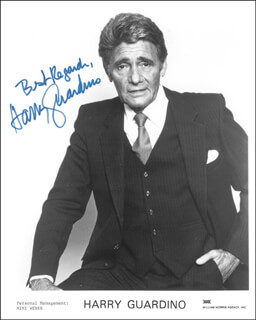 HARRY GUARDINO - AUTOGRAPHED SIGNED PHOTOGRAPH