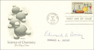 Autographs: EDWARD A. DOISY - FIRST DAY COVER SIGNED