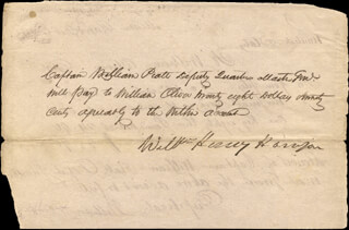 PRESIDENT WILLIAM HENRY HARRISON - MANUSCRIPT DOCUMENT SIGNED 02/18/1813 CO-SIGNED BY: WILLIAM OLIVER