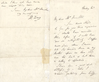 SIR HUMPHRY DAVY - AUTOGRAPH LETTER SIGNED