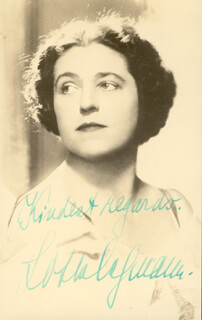 LOTTE LEHMANN - PICTURE POST CARD SIGNED