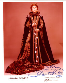RENATA SCOTTO - AUTOGRAPHED INSCRIBED PHOTOGRAPH 1981