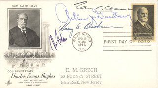 Autographs: ASSOCIATE JUSTICE TOM C. CLARK - FIRST DAY COVER SIGNED CO-SIGNED BY: ASSOCIATE JUSTICE ABE FORTAS, ASSOCIATE JUSTICE HARRY A. BLACKMUN, ASSOCIATE JUSTICE ARTHUR J. GOLDBERG