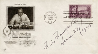 ASSOCIATE JUSTICE FELIX FRANKFURTER - FIRST DAY COVER SIGNED 06/27/1948