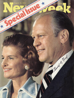 PRESIDENT GERALD R. FORD - MAGAZINE COVER SIGNED