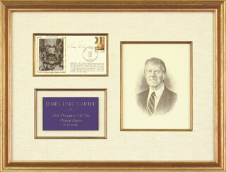 Autographs: PRESIDENT JAMES E. JIMMY CARTER - COMMEMORATIVE ENVELOPE SIGNED