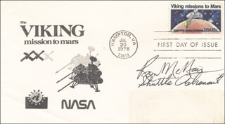 RONALD E. McNAIR - FIRST DAY COVER SIGNED