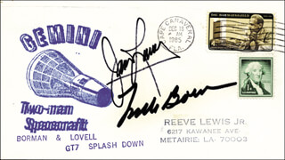 COLONEL FRANK BORMAN - SPECIAL COVER SIGNED CO-SIGNED BY: CAPTAIN JAMES A. LOVELL