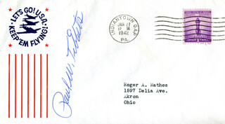 ENOLA GAY CREW (PAUL W. TIBBETS) - ENVELOPE SIGNED CIRCA 1942