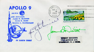 BRIGADIER GENERAL JAMES A. McDIVITT - SPECIAL COVER SIGNED CO-SIGNED BY: RUSTY SCHWEICKART